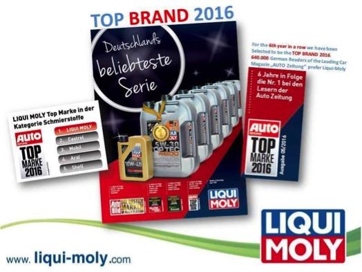 Профессионалы выбрали LIQUI MOLY лучшим брендом 2015 года!