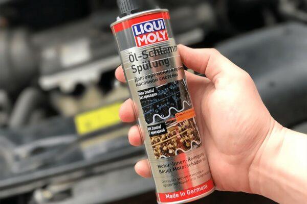Усиленная промывка масляной системы двигателя Oil-Schlamm-Spulung Liqui Moly.