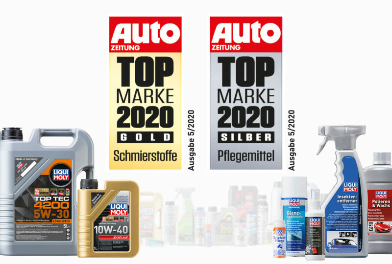 Компания LIQUI MOLY в десятый раз подряд получила звание Лучший Бренд Германии в своём сегменте рынка!